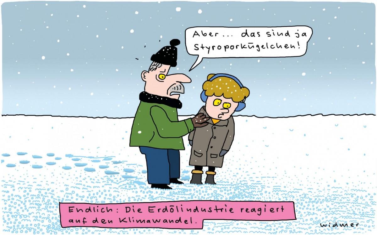Cartoon-Vorlesung mit Ruedi Widmer