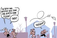 Vernissage: Comics, Cartoons & Karikaturen im Bistro präsentiert: Samuel Schuhmacher