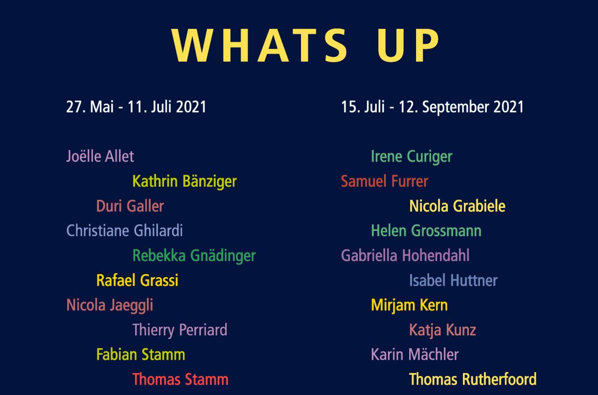 Whats up – Winterthurer Künstler*innen